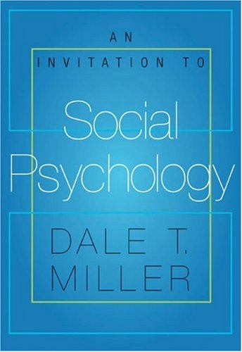 Invitation to Social Psychology   2006 9780534592059 Front Cover