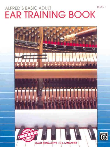 Alfred's Basic Adult Piano Course Ear Training  1994 edition cover