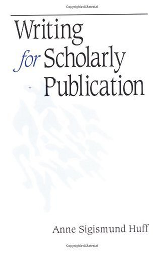 Writing for Scholarly Publication   1998 edition cover