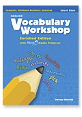 VOCABULARY WORKSHOP,LEVEL BLUE GRADE 5 N/A 9780821580059 Front Cover