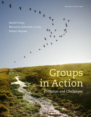Groups in Action + Workbook + Counseling Coursemate With Ebook Printed Access Card: Evolution and Challenges  2012 edition cover