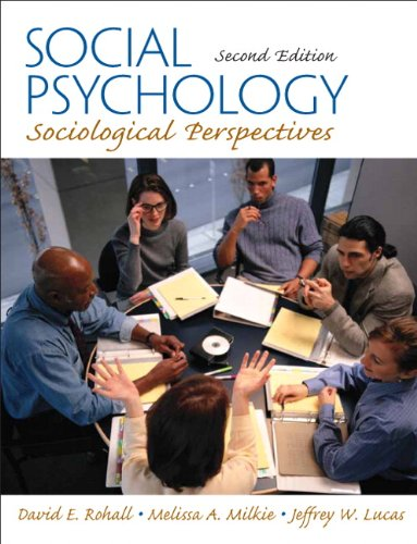 Social Psychology Sociological Perspectives 2nd 2011 edition cover