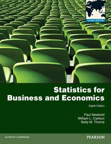 Statistics for Business and Economics Global Edition 8th 2013 (Revised) 9780273767060 Front Cover