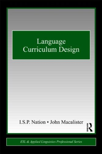 Language Curriculum Design   2010 edition cover