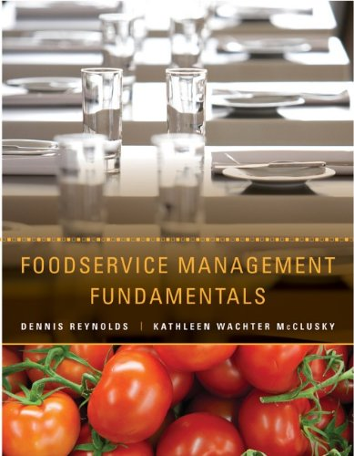Foodservice Management Fundamentals   2014 edition cover