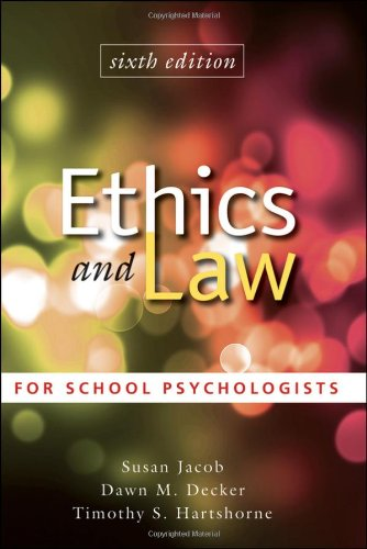 Ethics and Law for School Psychologists  6th 2011 edition cover