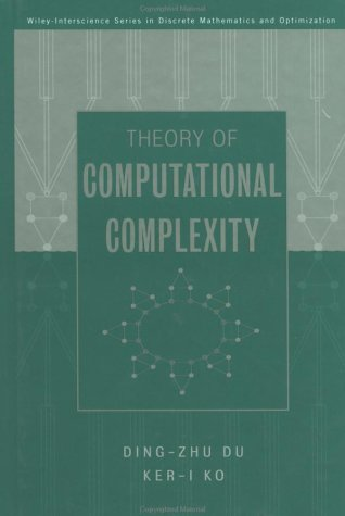 Theory of Computational Complexity   2000 9780471345060 Front Cover