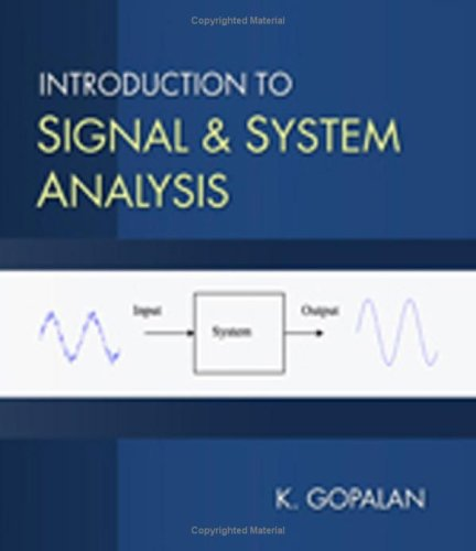 Introduction to Signals and Systems Analysis   2009 9780534466060 Front Cover