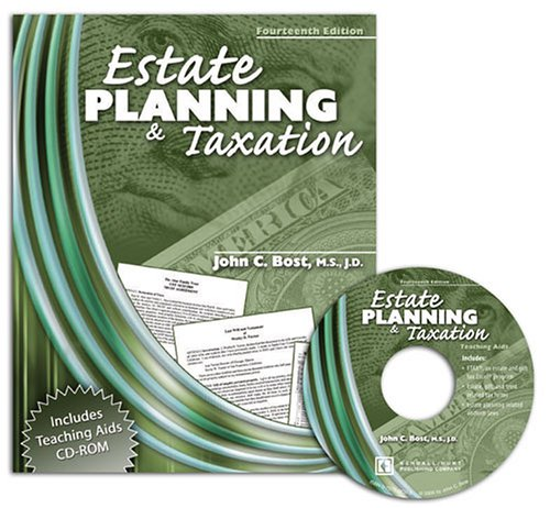 Estate Planning and Taxation  14th 2006 (Revised) 9780757526060 Front Cover