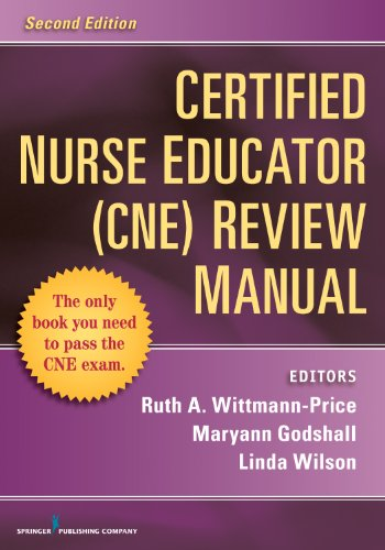 Certified Nurse Educator (CNE) Review Manual:   2013 edition cover