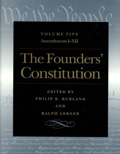 Founders' Constitution   2000 9780865973060 Front Cover