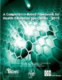 Competency-based Framework for Health Education Specialists - 2010 N/A edition cover