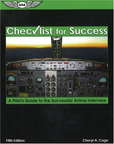 Checklist for Success A Pilot's Guide to the Successful Airline Interview 5th 2004 edition cover