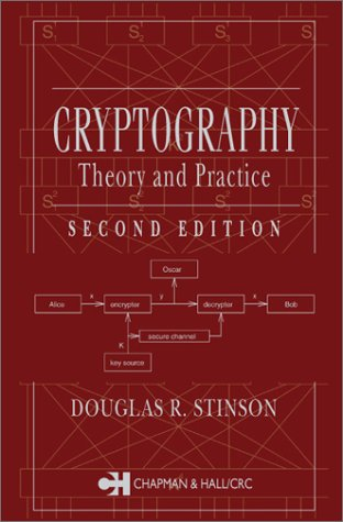 Cryptography Theory and Practice 2nd 2002 (Revised) edition cover