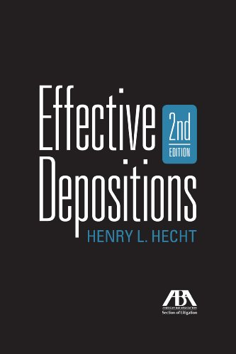 Effective Depositions  2nd 2010 edition cover