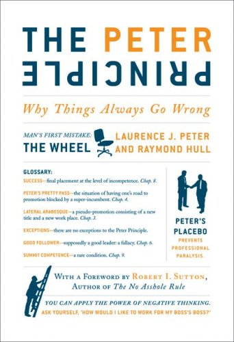 Peter Principle Why Things Always Go Wrong  2009 edition cover