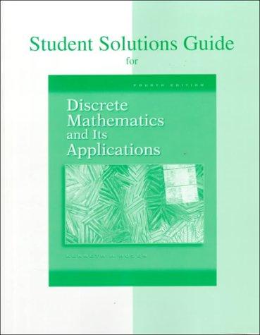 Discrete Math Solutions Guide 4th 1999 edition cover