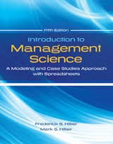 Introduction to Management Science Modeling and Case Studies Approach with Spreadsheets  2014 edition cover