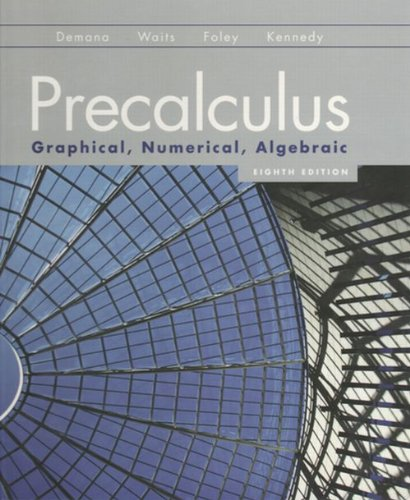 Precalculus Graphical, Numerical, Algebraic 8th 2011 9780131369061 Front Cover