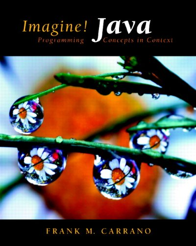 Imagine! Java Programming Concepts in Context  2011 edition cover