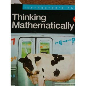 THINKING MATHEMATICALLY-W/CD > 4th 2008 edition cover