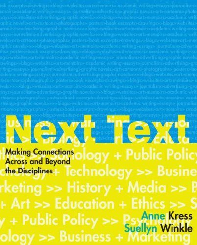 NextText Making Connections Across and Beyond the Disciplines  2008 edition cover
