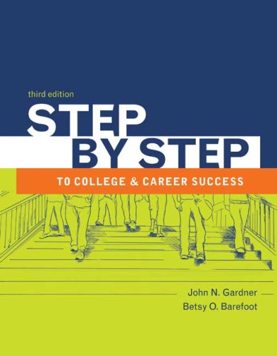 Step by Step to College and Career Success  3rd 2009 9780312683061 Front Cover