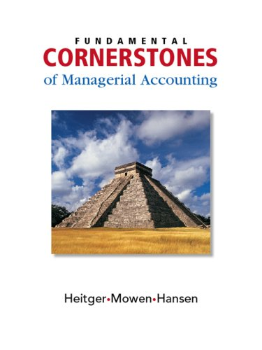 Fundamental Cornerstones of Managerial Accounting   2008 edition cover