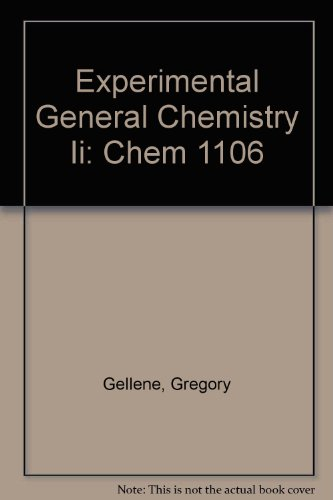 Experimental General Chemistry II Chem 1106  2009 (Revised) 9780757561061 Front Cover