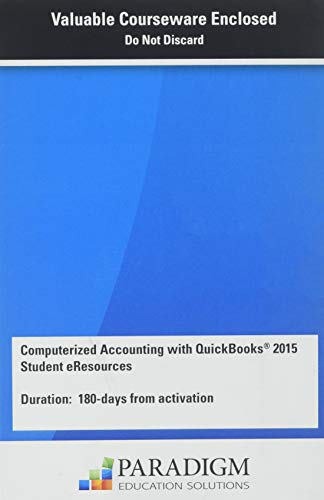 COMPUTERIZED ACCT.QUICKBKS.2015-ACCESS  N/A 9780763865061 Front Cover