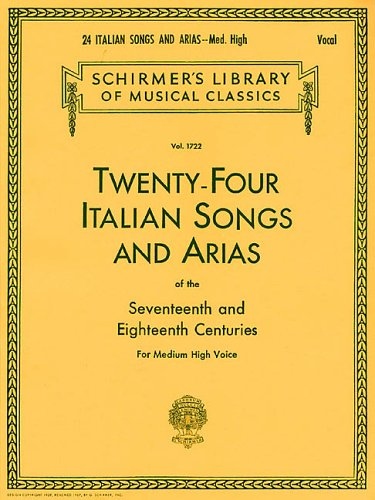 24 Italian Songs and Arias For Medium High Voice  1986 edition cover
