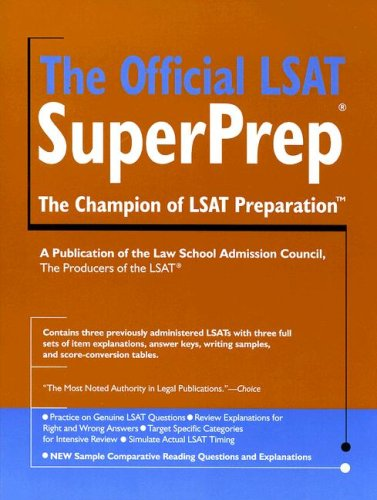 Official LSAT SuperPrep   2007 9780979305061 Front Cover