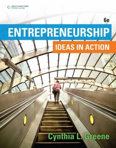 Entrepreneurship: Ideas in Action  2016 9781305653061 Front Cover