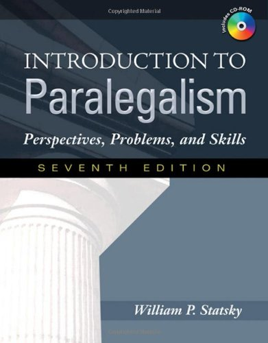Introduction to Paralegalism Perspectives, Problems and Skills 7th 2009 edition cover