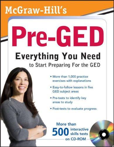 Pre-GED Everthing You Need to Start Preparing for the GED  2011 9780071703062 Front Cover