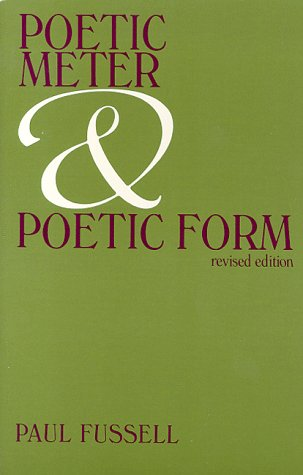 Poetic Meter and Poetic Form   1988 (Revised) edition cover