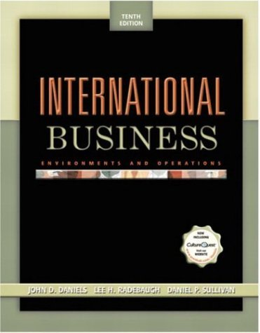 International Business Environments and Operations 10th 2004 9780131461062 Front Cover