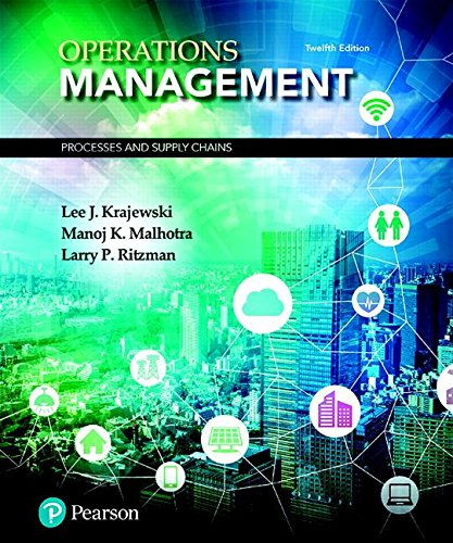 Operations Management Processes and Supply Chains 12th 2019 9780134741062 Front Cover