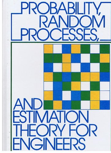 Probability Random Processes and Estimation Theory for Engineers   1986 9780137117062 Front Cover