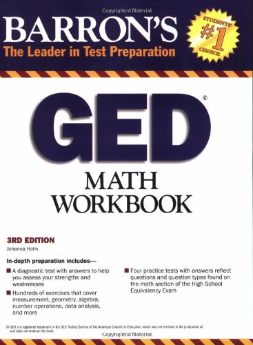 GED Math Workbook  3rd 2009 (Revised) edition cover