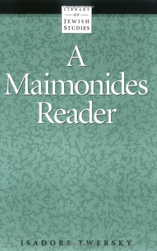 Maimonides Reader 1st edition cover