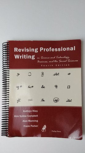REVISING PROFESSIONAL WRITING           N/A 9780976718062 Front Cover