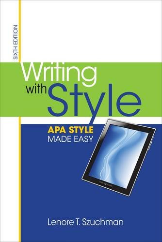 Writing With Style: Apa Style Made Easy  2013 edition cover
