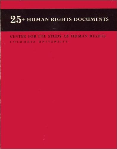 25+ Human Rights Documents 1st 2001 (Revised) edition cover