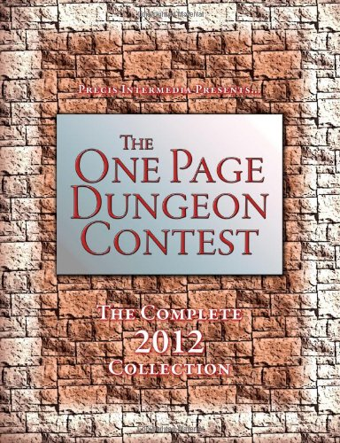 One Page Dungeon Contest 2012   2012 9781938270062 Front Cover