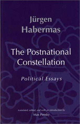 Postnational Constellation Political Essays  2001 edition cover