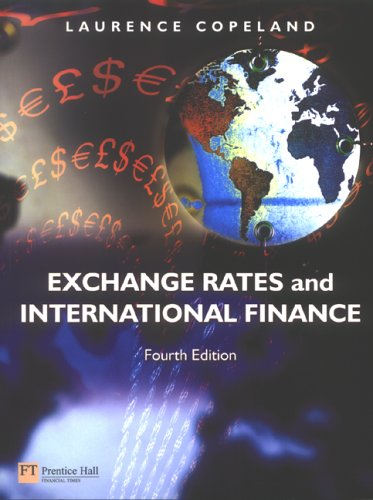 Exchange Rates and International Finance  4th 2005 (Revised) 9780273683063 Front Cover