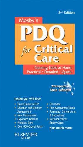 Mosby's Nursing PDQ for Critical Care  2nd 2010 edition cover