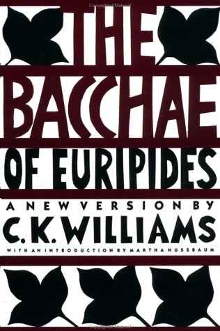 Bacchae of Euripides A New Version N/A edition cover