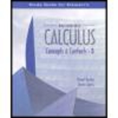 Multivariable Calculus Concepts and Contexts 3rd 2005 (Guide (Pupil's)) 9780534410063 Front Cover